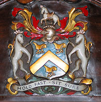 Saddlers' Company Crest, with motto 'Hold Fast, Sit Sure', Master's Chair